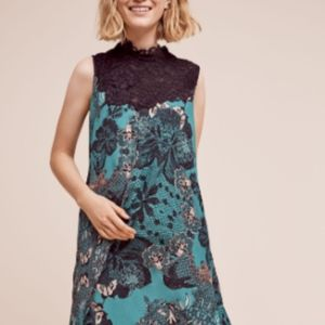 Anthropologie Maeve lace butterfly swing dress L